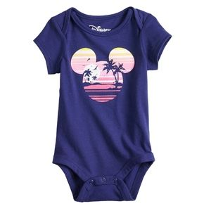 Disney's Mickey Mouse Baby Navy Blue Graphic Bodys